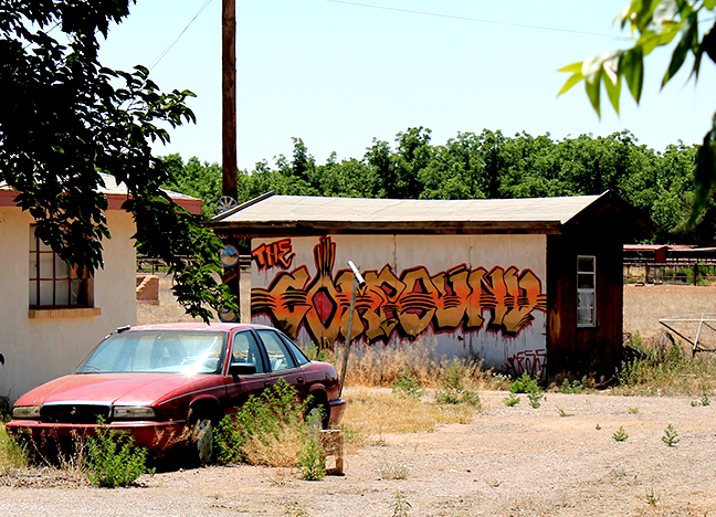 The Compound/ private residence Aerosol Artist unknown Date unknown