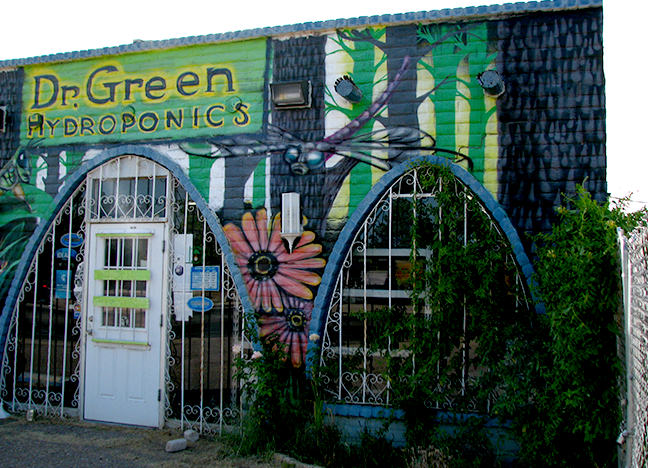 129 W. Idaho - Dr. Green Hydroponics Spray Paint Vela 2012