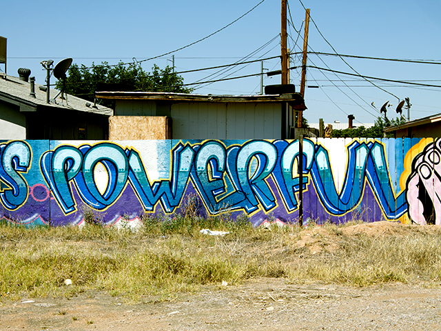 200 South Solano Drive Prayer is Powerful Spray Paint Artist Uknown Date Unknown