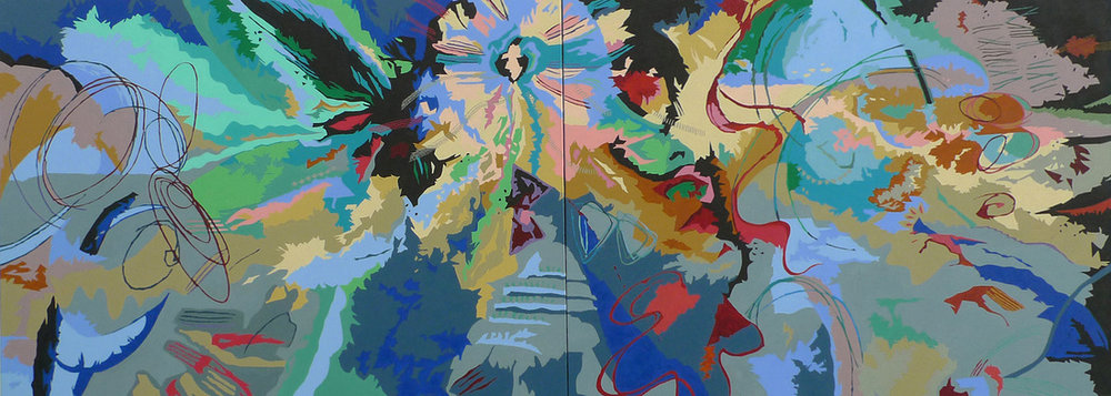 "Biodiversity #17 - 30""x80"" Oil on Canvas 2012"