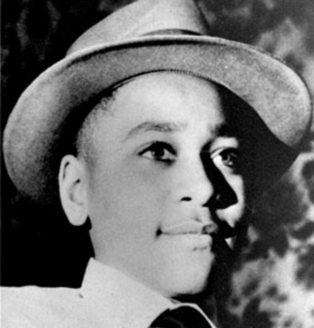 Emmett Till, in a photo taken by his mother at Christmas 1954.