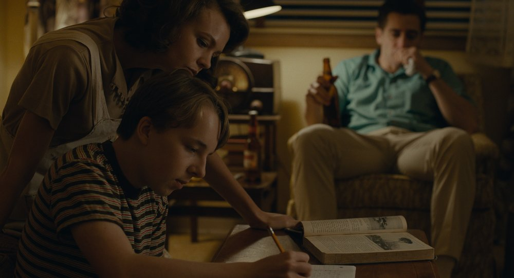 Carey Mulligan, Ed Oxenbould, and Jake Gyllenhaal in  Wildlife  (IFC Films)
