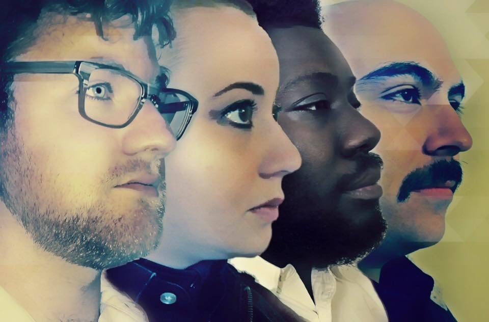 "The cast of ""Lobby Hero,"" from left, Daniel Henry, Devyn Ray Villarreal, Eugene Jones and Badi Mirheli."