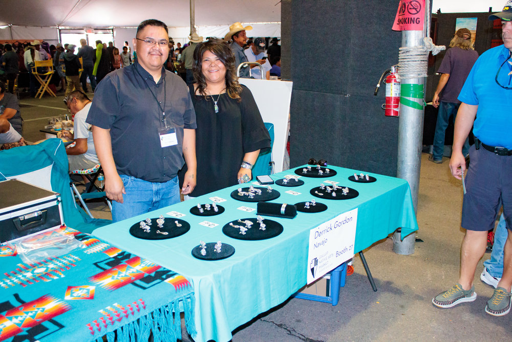 First time Showing in Gallup: Silver Smith Artist Derrick Gordon, Navajo, & his family