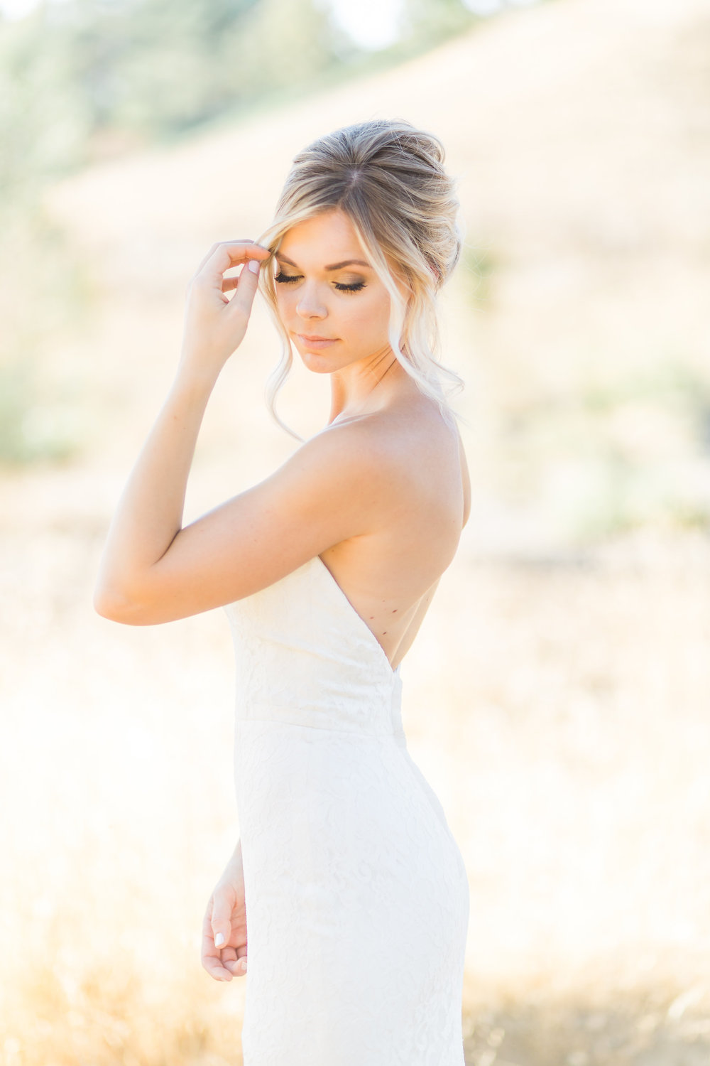 Boho bridal beauty