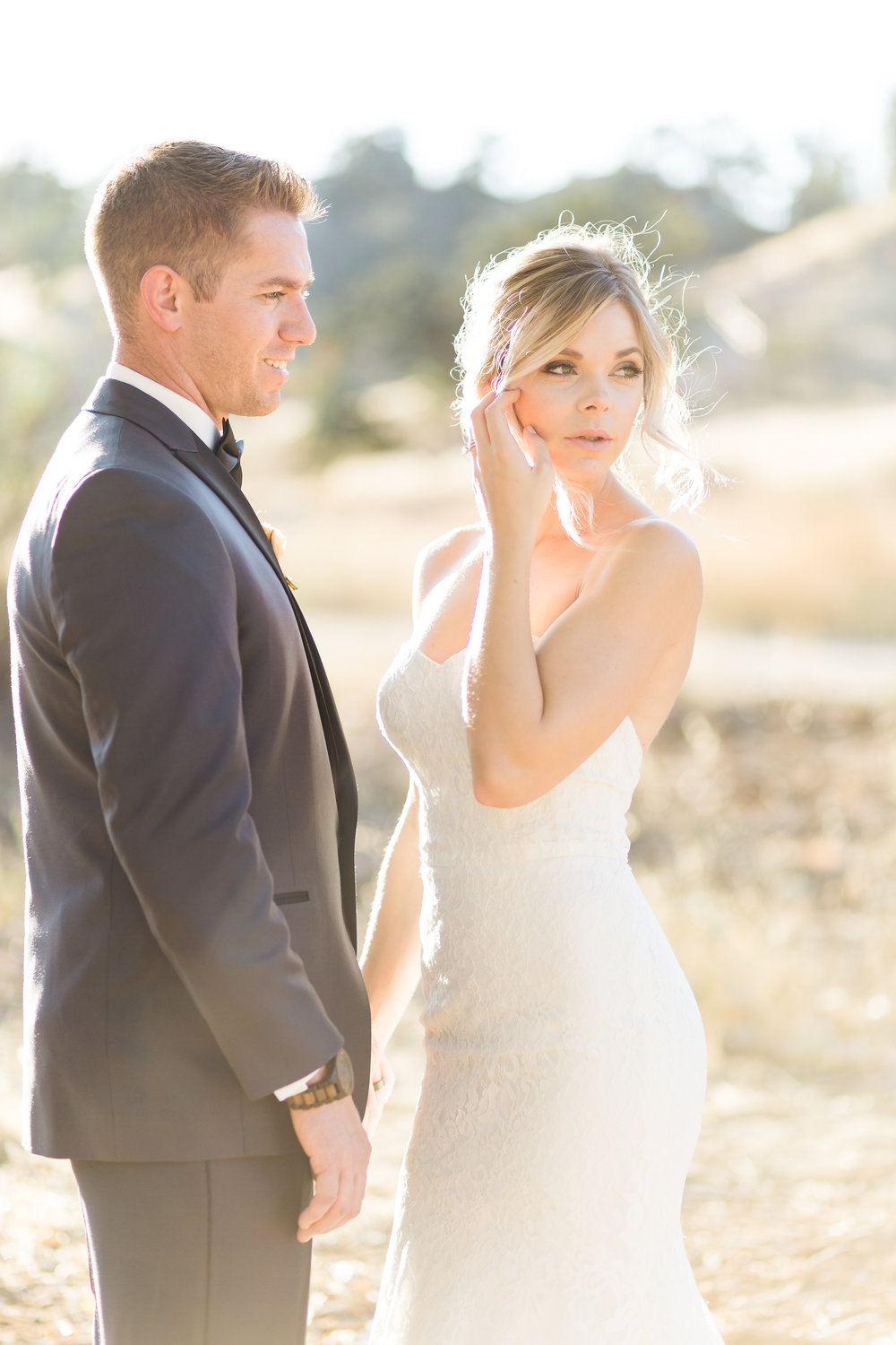 Santa Clarita bride and groom