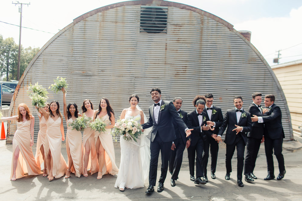 Bridal party in Redondo Beach, CA