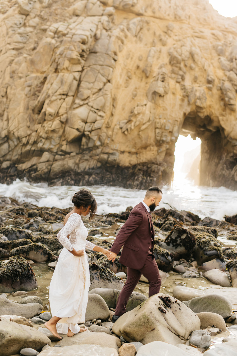 Big Sur intimate elopement, featured in Junebug Weddings