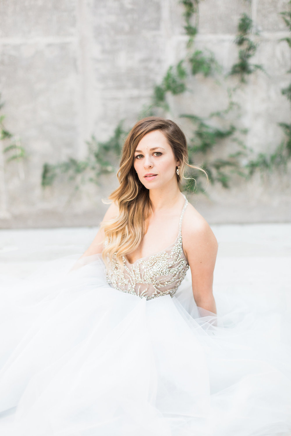 Light and airy natural bridal beauty