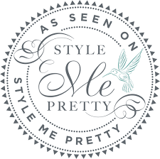 Hair and makeup published in style me pretty