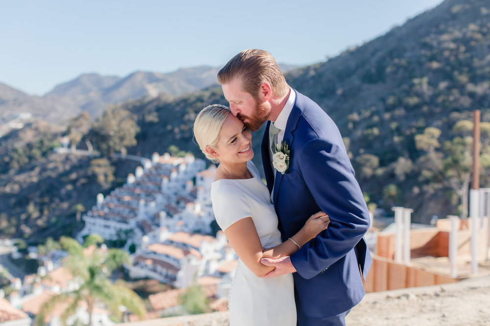 Adorable couple just married at Descanso Beach Club in Catalina Island