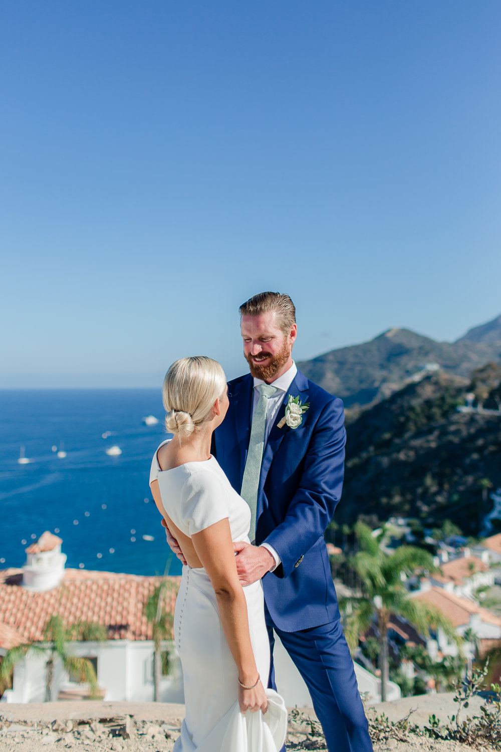 Absolutely perfect day for bride and groom's Catalina Island Wedding