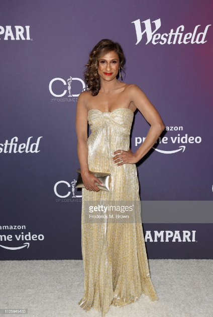 Sarayu Blue  / presenter at  the costume designers guild awards  - Hair by Emily Wright
