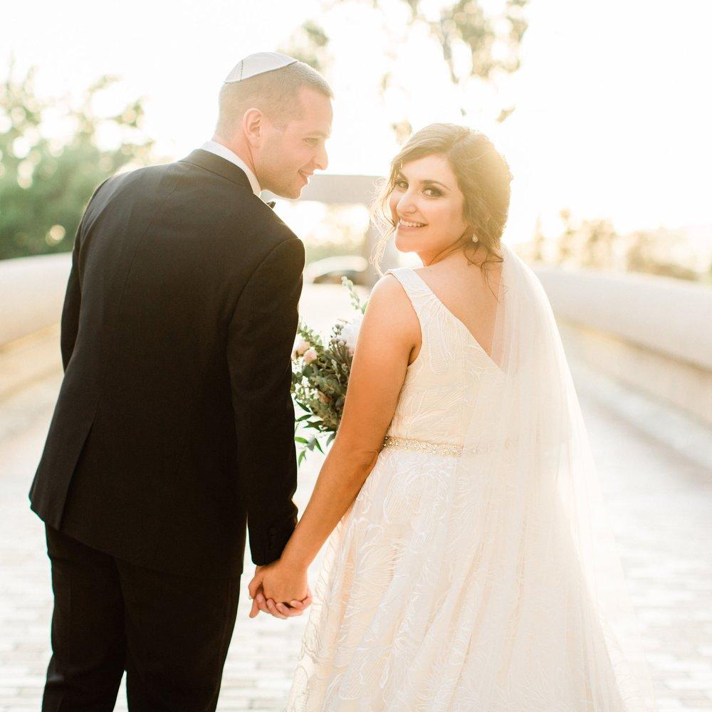 Romantic Jewish Wedding at Noor Pasadena  - southern california bride