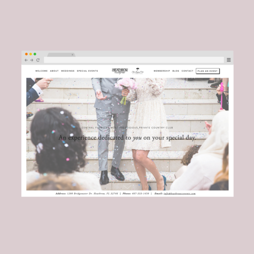 Heathrow Country Club Events Website Design – SH Digital