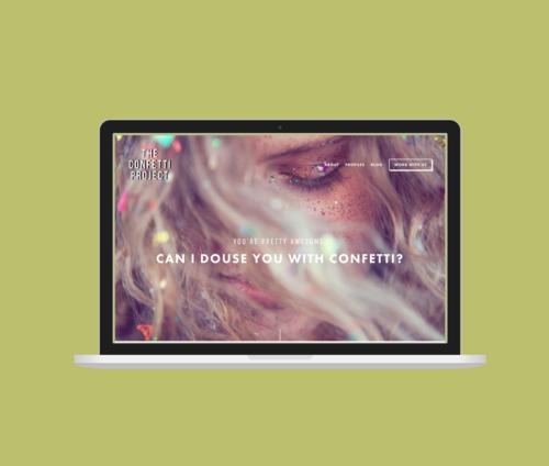 The Confetti Project Website Design – SH Digital