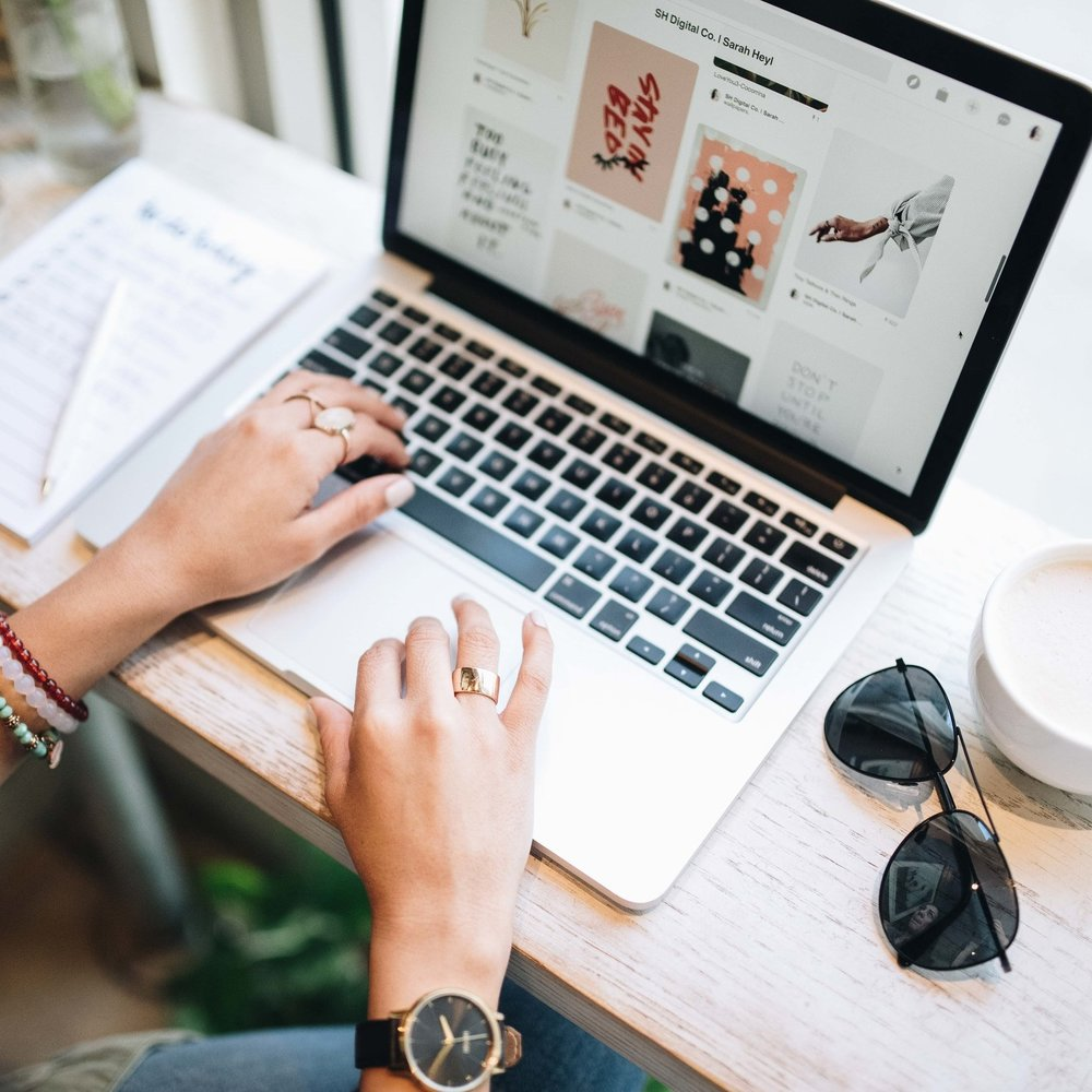 At Work - I am a full-time freelance web designer, social media strategist and marketing consultant working with creatives across the country. I like to blog about tips & tricks for staying organized + my tools for success. To see more, click below!