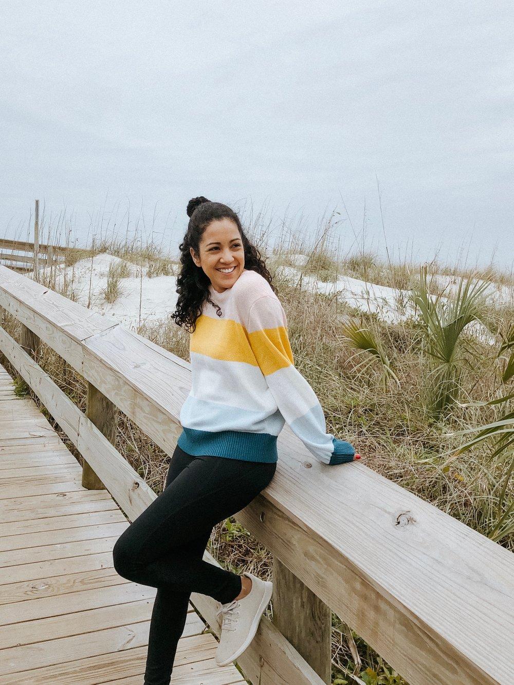 Color Block Striped Sweater - Sarah Heyl