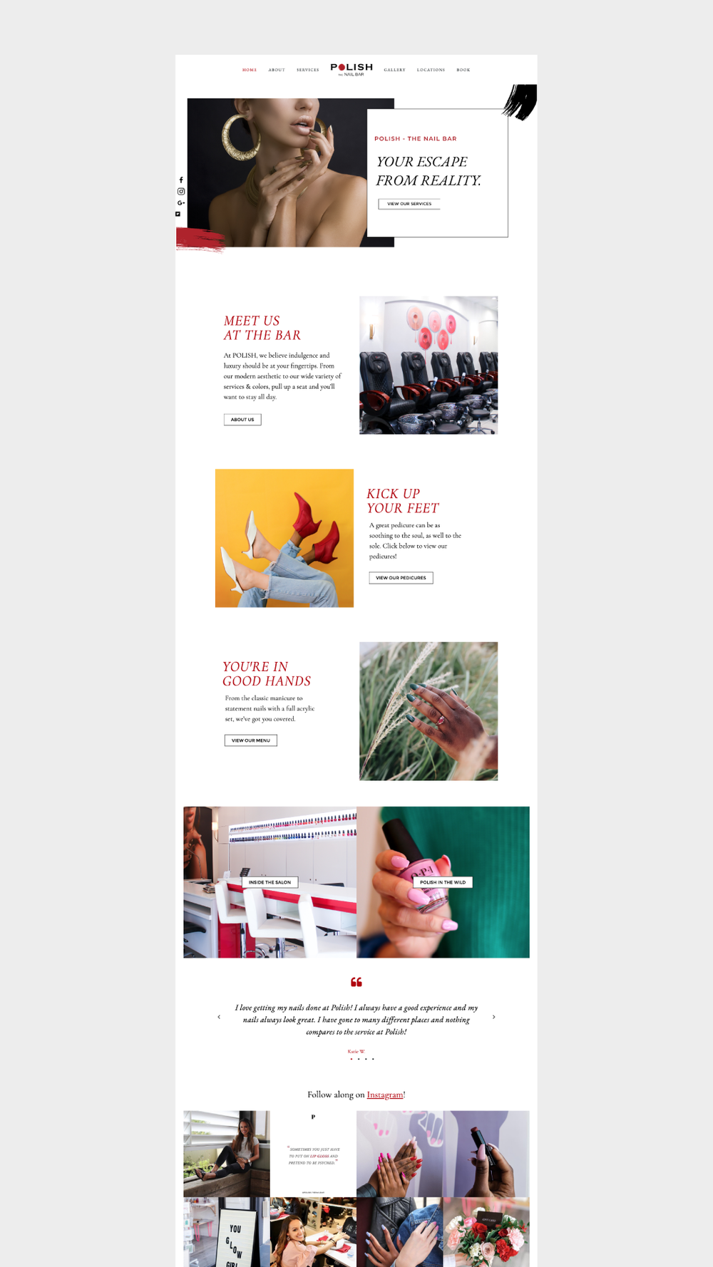 Squarespace Website Design Services – POLISH The Nail Bar