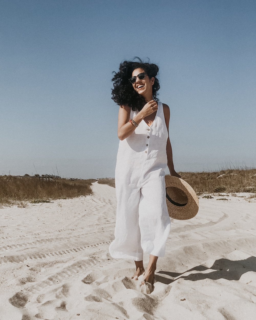 White Linen Playsuit