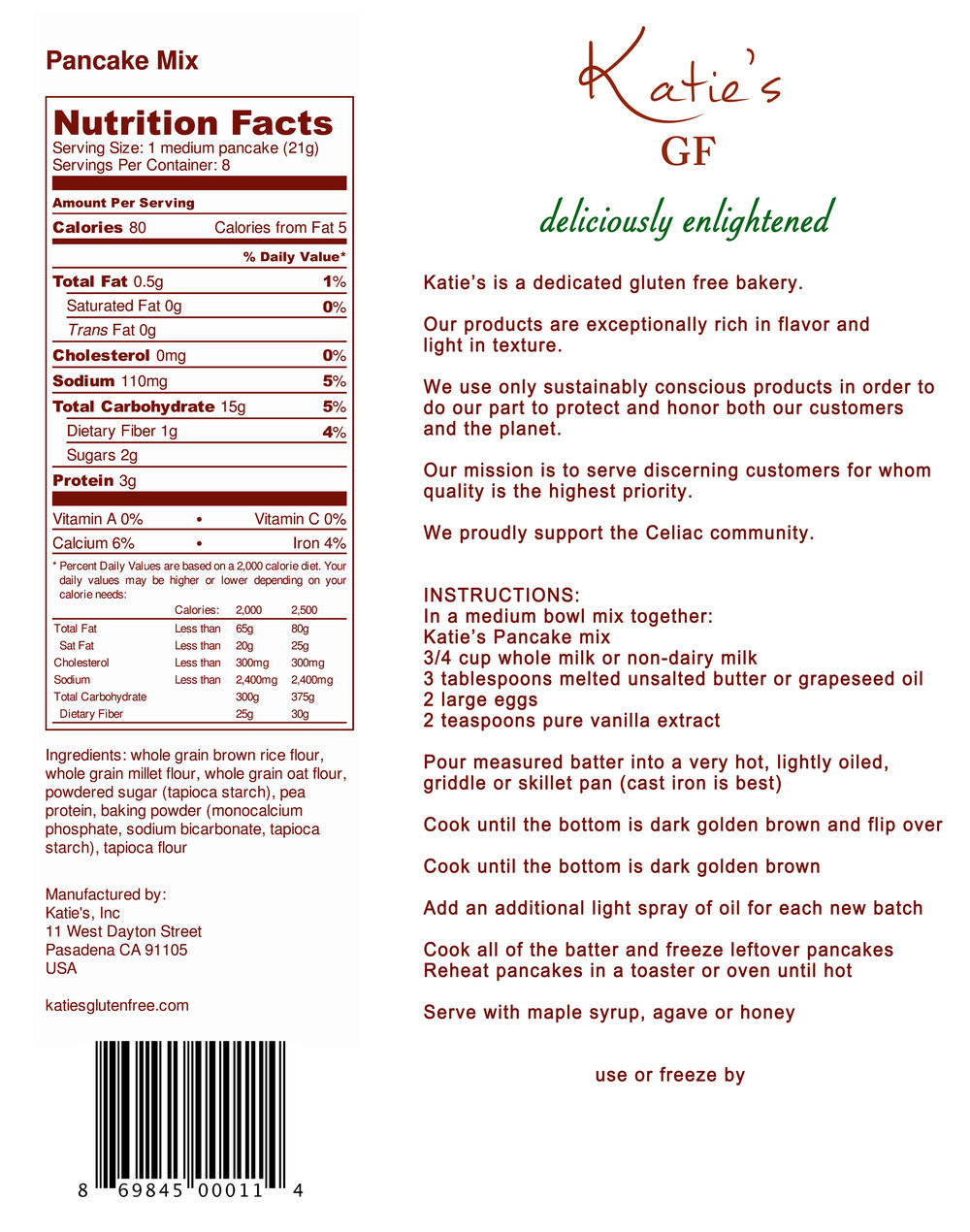 Back Label Design