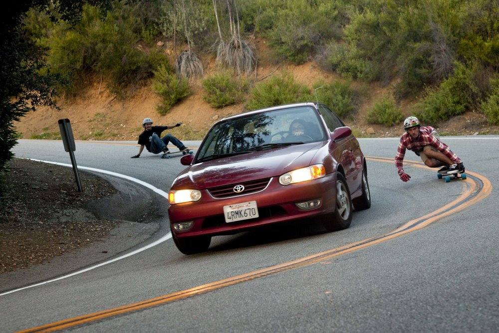Matt Kienzle demonstrates what not to do when you catch up to a car in this 2010 photo.