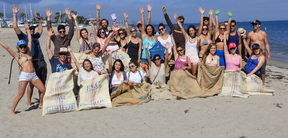 We partner with Save the Mermaids to regularly participate in beach clean-up along the Santa Barbara coast.