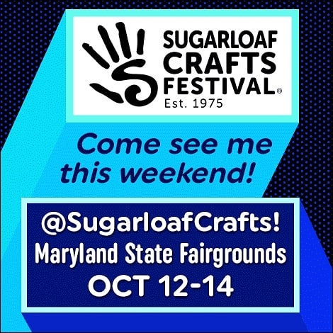 Good morning! After a long day of setup yesterday I am all ready for Sugarloaf this weekend! If you want to attend and haven't already bought tickets, send me a message for FREE TICKETS. Part of being a vendor means I get 10 tickets to give out to my lovely customers 😊 We are at the Fairgrounds in Timonium, MD. Open from 10-6 Friday and Saturday, and 10-5 on Sunday. Come out and visit! . . . . . #sugarloaf #craftshow #sugarloafcrafts #holidayshopping #localartist #supportlocal #miffyyost #foxglovestudio #foxglovestudiopottery
