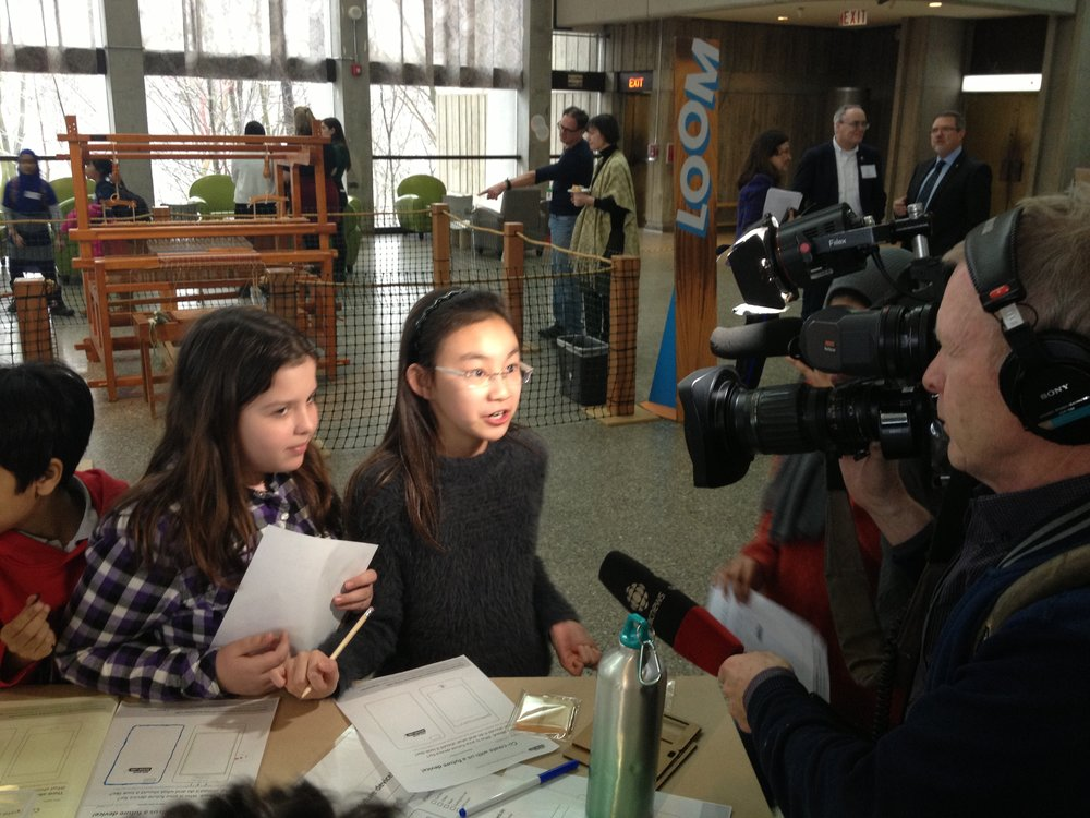 The CBC interviews students at the Daily Goods Design LABS Maker Space