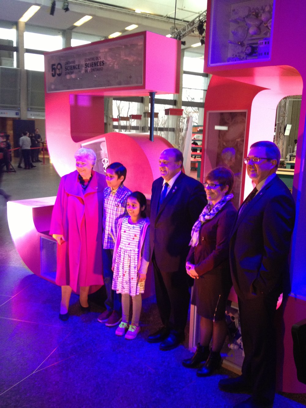 The Hon. Elizabeth Dowdeswell (far left) inaugurating Inventorium 2.0 and the Science Centre's 50th Anniversary Celebrations with various dignitaries .