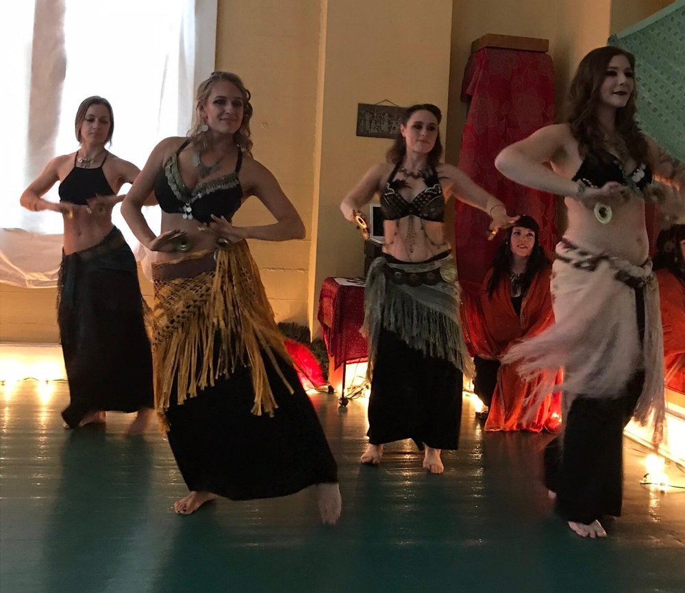 Beyond Basics class performing at the La Vida Hafla, June 1, 2018