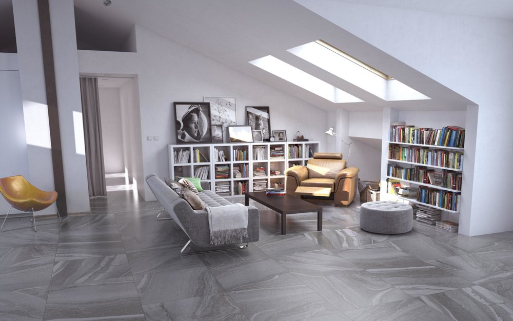 Horizon Cement Lappato 600x600 Rectified Edge