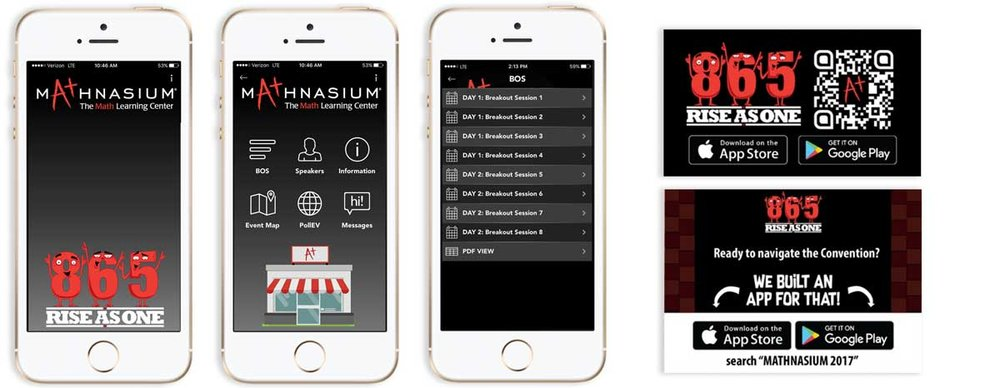 2017 Mathnasium Convention App: Conception, build, design, and on-site support
