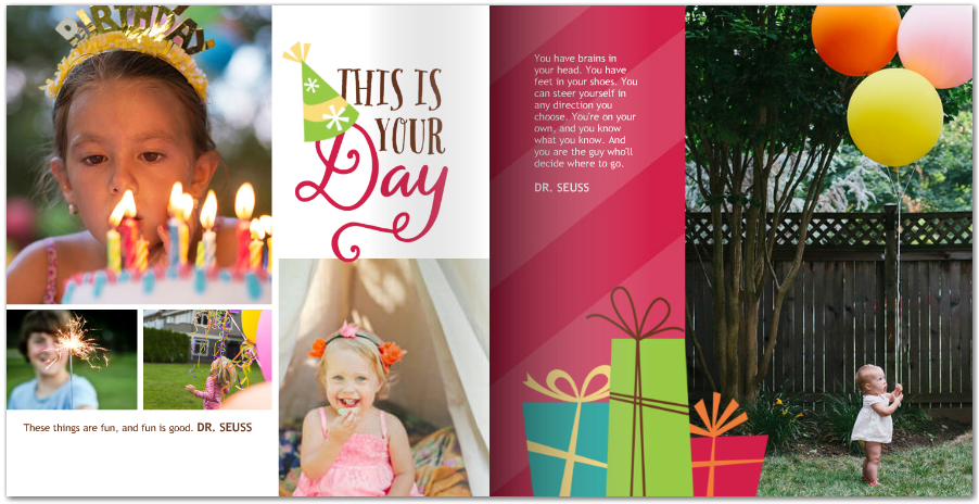 Birthday Photo Book Ideas