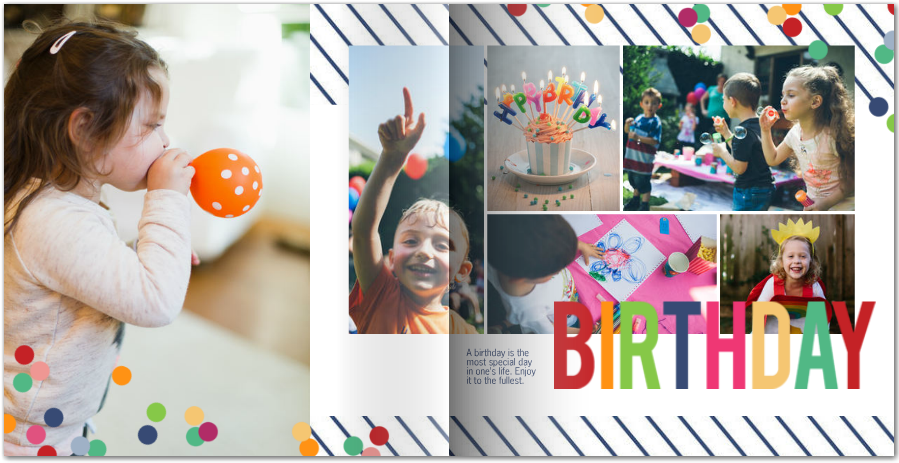 Bright Birthday Photo Book