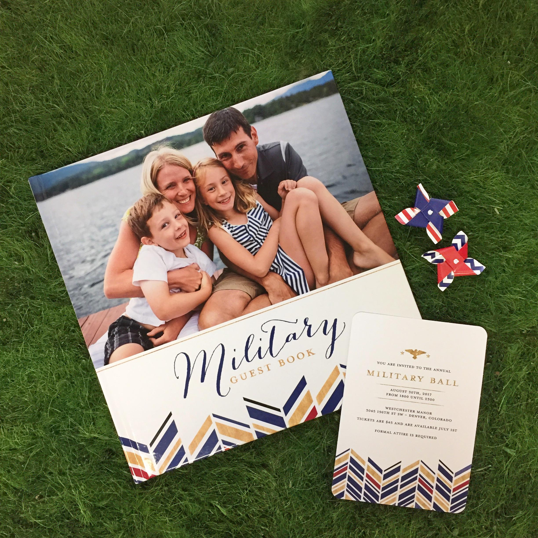 Military Guest Book & Invitation