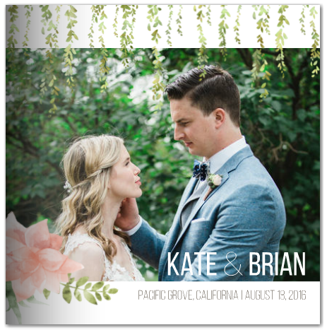 Outdoor botanical wedding photo book mixbook
