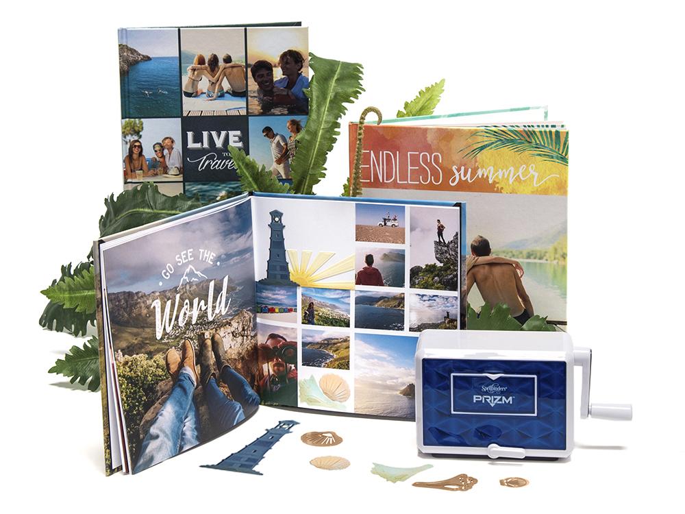 mixbook spellbinders crafty diy photo book embellishements die cut prizm