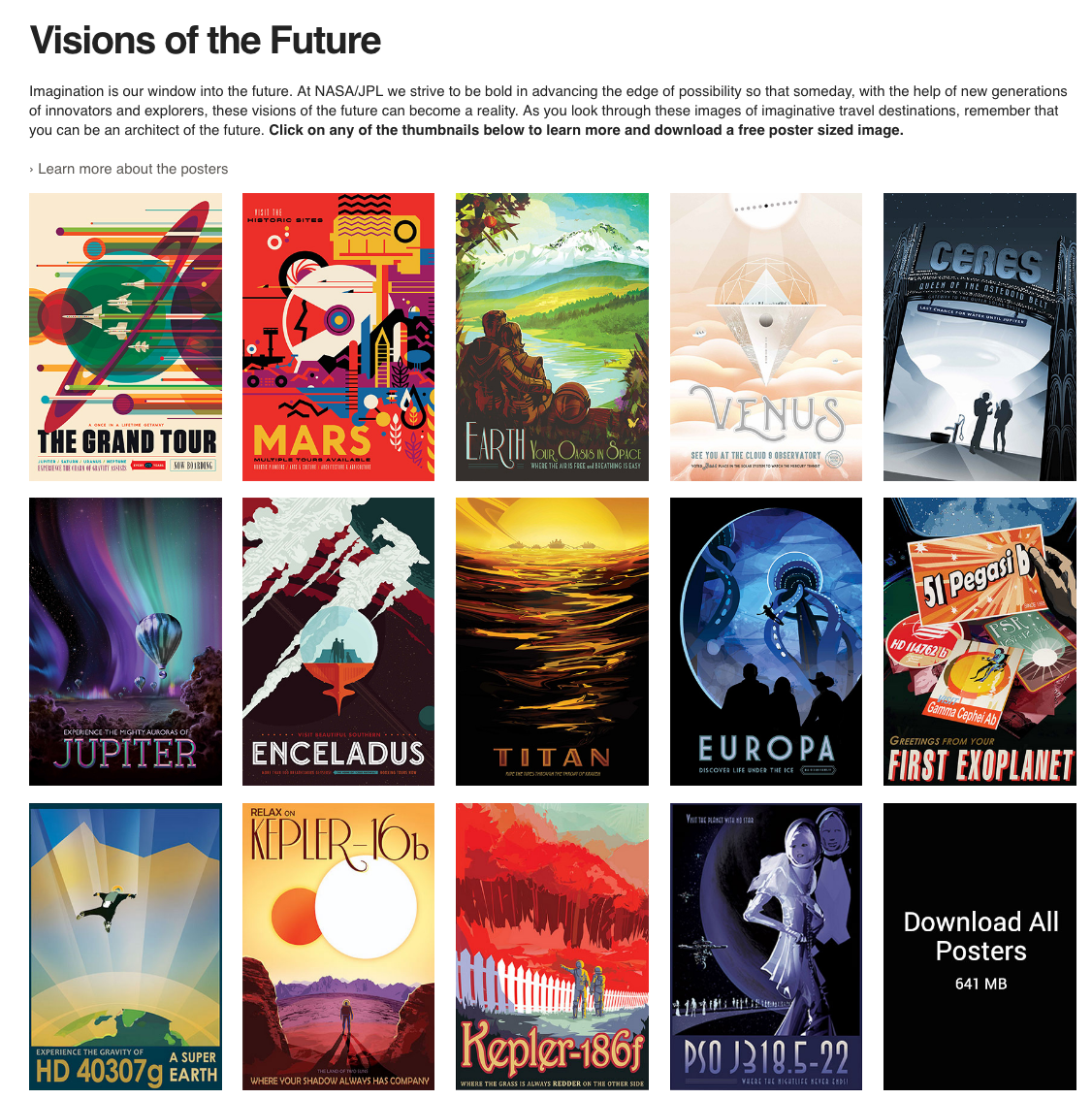 nasa jpl space travel posters art mixbook