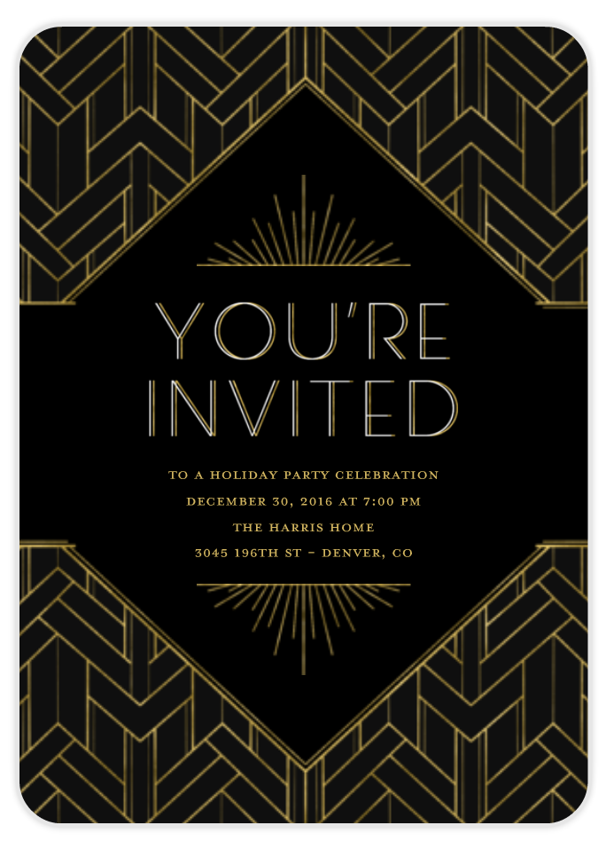 great gatsby birthday invitation