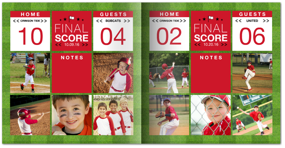 little leauge team sport photo book mixbook