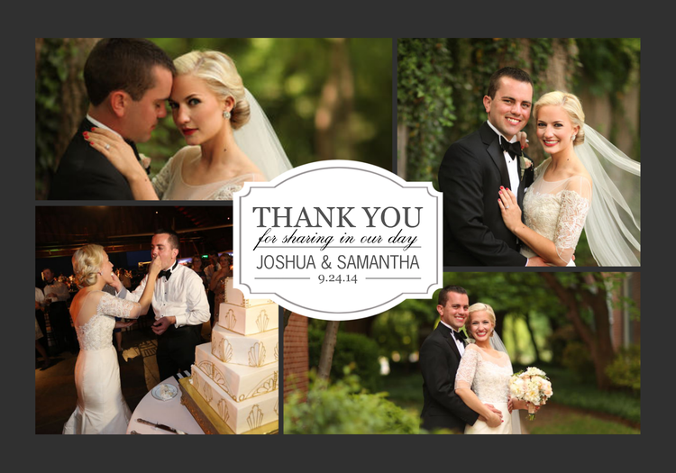 classic thank you collagepng - Wedding Thank You Cards