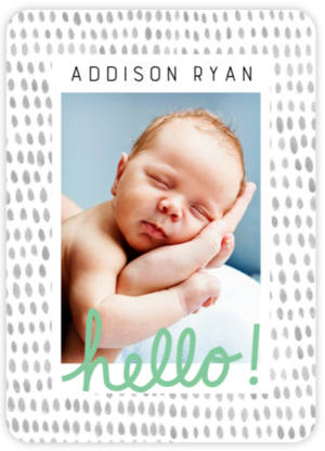 what baby announcement fits your style mixbook inspiration