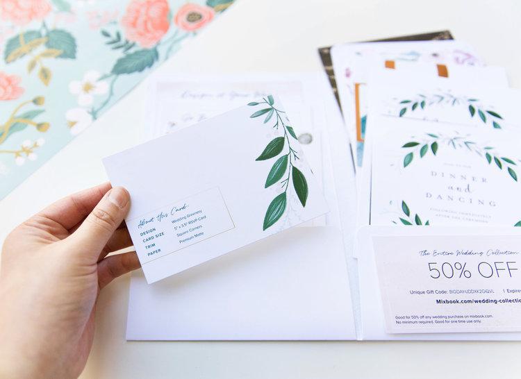 free wedding invitation and stationery sample kits mixbook inspiration