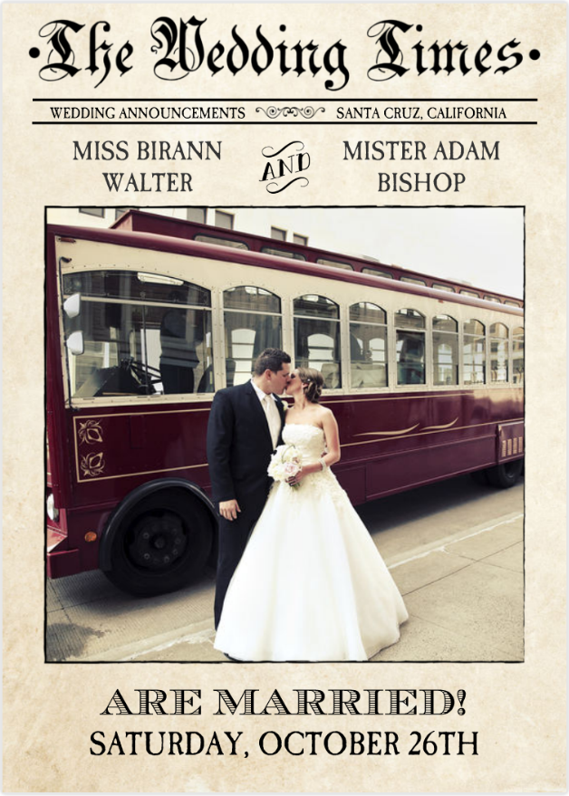 Wedding Announcement News