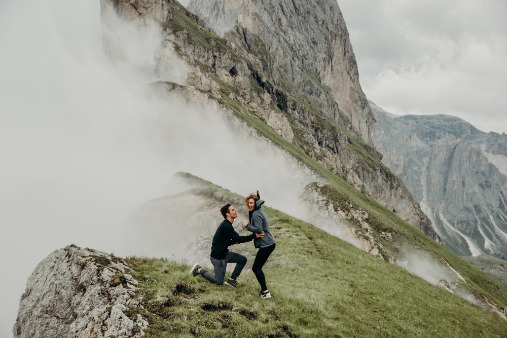 When Chris proposed in the Dolomites 6/28/17
