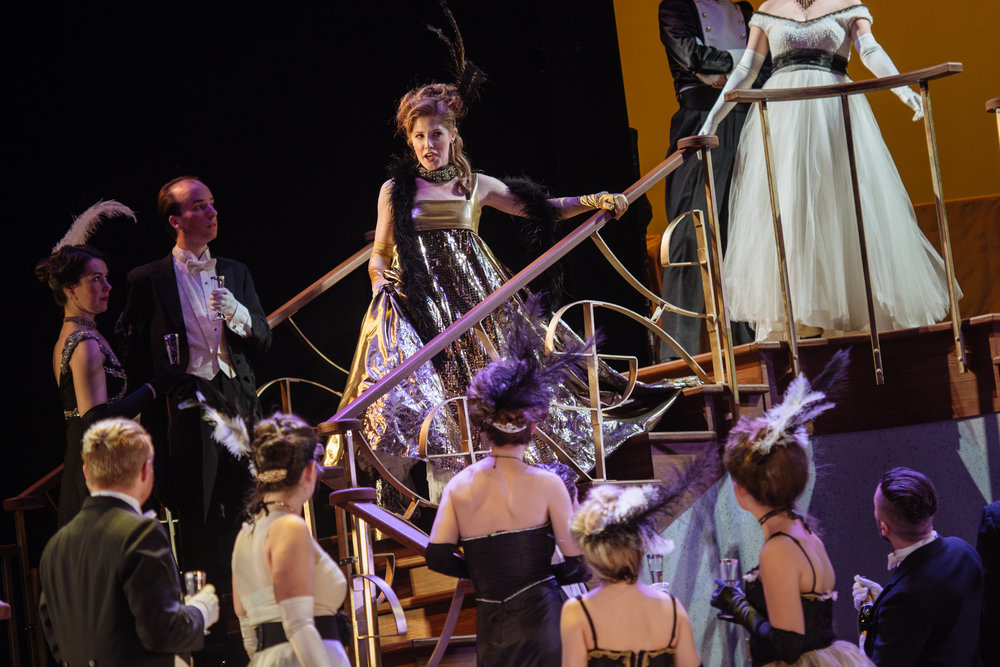 Gina as Adelle in  Die Fledermaus  with Opera McGill in 2017. (Ana Toumine as Rosalinda) Photo: Tam Lan Truong tamphotography.net