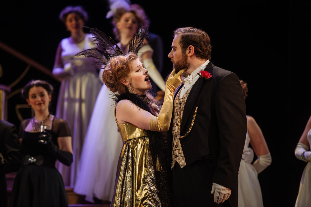 Gina as Adelle in  Die Fledermaus  with Opera McGill in 2017. (Jonah Spungin as Eisenstein) Photo:Tam Lan Truong tamphotography.net