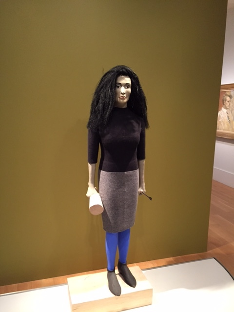 "Marisol,  Judith Shea, polystyrene foam, balsa wood, felt, paper clay, paint, steel and synthetic hair, 69 5/8 × 24 1/2 × 13"" (2014), Smithsonian National Portrait Gallery"
