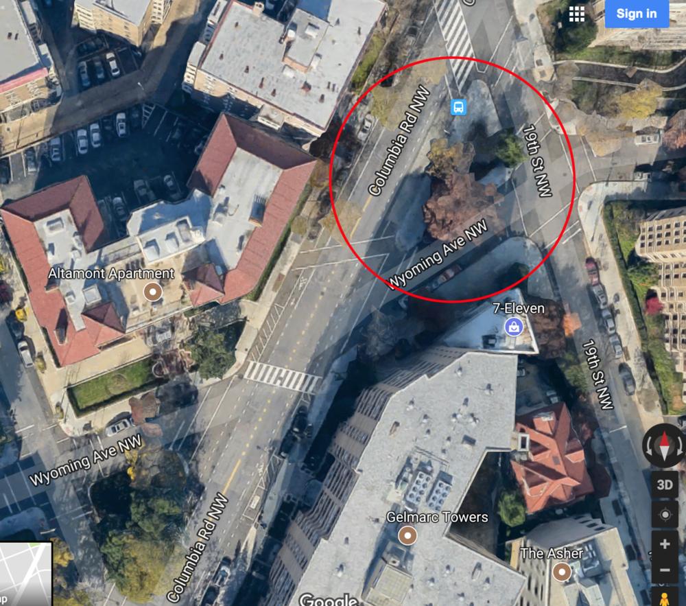Artist map detailing location. 2017; Digital image.